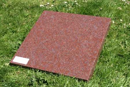 Zerkje imperial red graniet 50x50x5 cm